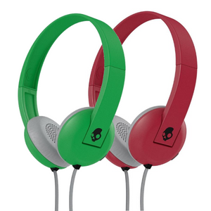 Skullcandy Uproar On-ear Headphones with Built-In Mic and Remote - Green or Red - S5URHT-4