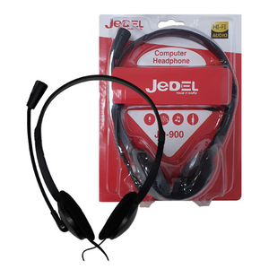 Jadel Home & Office Stereo Headset with Microphone | 3.5mm Jack | Noise Cancelling – Black – XC-900MV