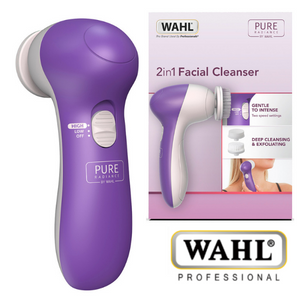 Wahl Pure Radiance 2 in 1 Facial Cleanser – Purple/White – ZY107