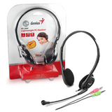 Genius Lightweight Headband Headset with Boom Microphone for Laptop & PC – Black