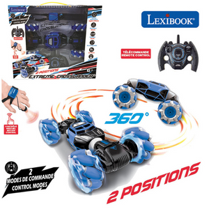 Lexibook Extreme Crosslander Rechargeable Radio-Controlled Stunt Car – Black/Blue – RC50