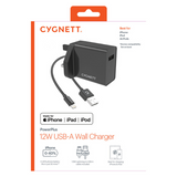 Cygnett PowerPlus 12W Charger + Lightning to USB-A Cable for iPhone & iPad - CY3105POPLU