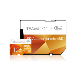 Team Colour 128GB Micro SDXC 128GB Flash Card with Adapter - TCUSDX128GUHS42