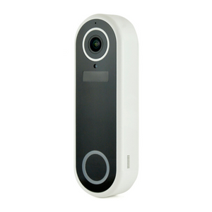 Lloytron Slimline Video Doorbell with Plugin Chime Unit | 2-Way Audio, Monitor & Alerts - B7710WH