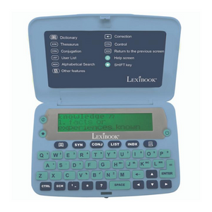 Lexibook English Electronic Dictionary with Thesaurus - Blue - D650EN