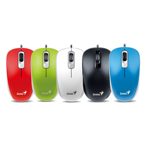 Genius DX-110 USB Mouse for Laptop, PC - Red, Green, White, Black or Blue