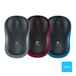 Logitech M185 Wireless Mouse – 3 Colours | Black-Grey | Black-Red | Black-Blue