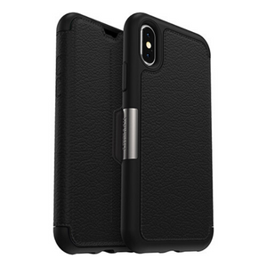 Otterbox Strada Series Folio Case for Apple iPhone X/XS – Black – 77-59630