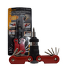 Sprotek 15-in-1 Ratchet Screwdriver Set | Hex | Philips and Torx Bits - Red - STD-6528