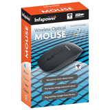 Infapower Wireless Optical Mouse with 2 Button Design | Scroll Wheel – Black – X205