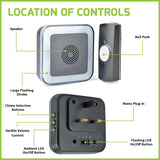Lloytron 32 Melody MIP3 Hearing Impaired Door Chime Kit – Black – B7533BK