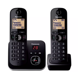 Panasonic KX-TG6802EB Twin Digital Cordless Phone with LCD Display & Answer Machine