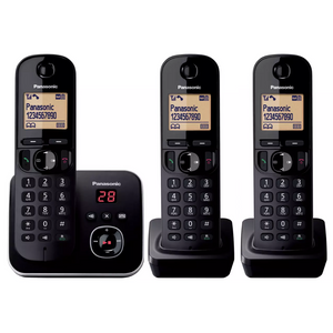 Panasonic KX-TG6803EB Trio Digital Cordless Phone with LCD Display & Answer Machine