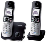 Panasonic KX-TG6812EB Twin DECT Cordless Telephone with Large White LCD and Elegant Design