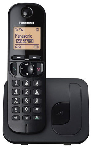 Panasonic KX-TGC210EB Single Digital Cordless Single Phone with LCD Display