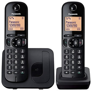 Panasonic KX-TGC212EB Twin Digital Cordless Single Phone with LCD Display