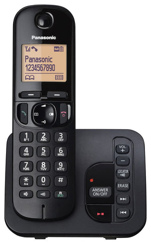 Panasonic KX-TGC220EB Single Digital Cordless Phone with LCD Display & Answer Machine