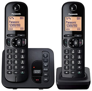 Panasonic KX-TGC222EB Twin Digital Cordless Phone with LCD Display & Answer Machine