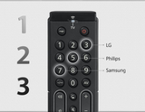 One For All Essence TV Universal Remote Control for all types of Televisions (LED, LCD, Plasma) - URC7110