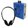 Evo Labs Wired Over-Ear Headset with Microphone | 3.5mm Headphone Jack – Black – HP01