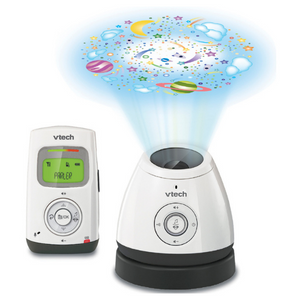 VTech Safe and Sound Wi-Fi Video and Audio Baby Monitor with LCD & Light Show - White/Black - BM2200
