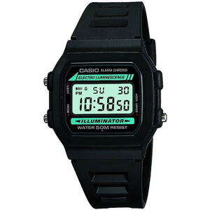 Casio Casual Digital Watch Unisex | Resin, Alarm, Stopwatch 12/24 - W-86-1VQES