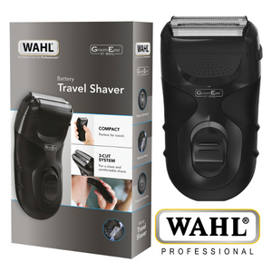 Wahl GroomEase Battery Operated Travel Shaver – Black – 7066/017