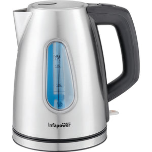 Infapower Rapid Boil Cordless Kettle 1.58L 3000w - Stainless Steel - X504