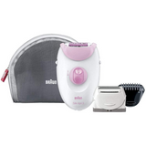 Braun Silk-Epil 3 Leg & Body Epilator | 2 Speeds & Massage - Pink/White - SE3270