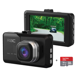 "RAC R3000 1080p HD Dash Cam Video Camera with 3"" Screen Display, Collision & Parking Monitor with G-Sensor"