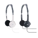 JVC HAL50 Foldable Light Weight Stereo Headphones - Black or White