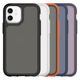 Griffin Survivor Strong Protective Case for iPhone 12 Mini, 12, 12 Pro & 12 Pro Max - Black, Clear, Grey/Orange, Navy & Purple