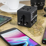 Veho TA-1 USB Travel Adapter World Mains Plug with 4 USB Ports - VAA-200-TA1