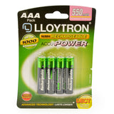 Lloytron 2-Piece Rechargeable Battery Bungle | Includes 4x AAA + Mains Battery Charger - B014 / B1502