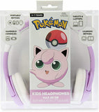 Pokémon JigglyPuff On-Ear Wired Headphones by OTL | Ages 3 to 7 - Purple/Pink - PK0568