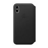 Apple Leather Folio Wallet Case for Apple iPhone X/XS - Black - MQRV2ZM/A