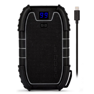 Veho Pebble Endurance PRO Water Resistant 15,000mAh Power Bank including MFi Lightning Cable - Black - VPP-010-EPRO