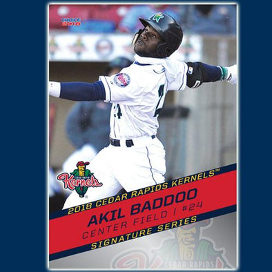 Cedar Rapids Kernels 2018 Team Card set