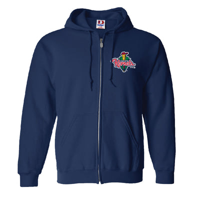 Cedar Rapids Kernels Navy Full-Zip Hooded Sweatshirt