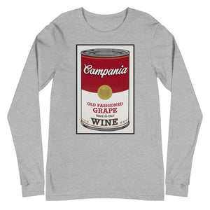 CANNED WINE: CAMPANIA- Unisex Long Sleeve Tee