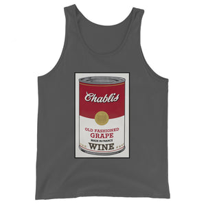 CANNED WINE: CHABLIS- Unisex  Tank Top