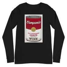 Load image into Gallery viewer, CANNED WINE: CAMPANIA- Unisex Long Sleeve Tee