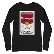 Load image into Gallery viewer, CANNED WINE: CHAMPAGNE-Unisex Long Sleeve Tee