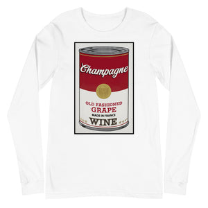 CANNED WINE: CHAMPAGNE-Unisex Long Sleeve Tee