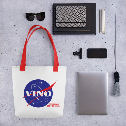 ONE SMALL SIP FOR MAN- Tote bag