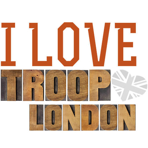 I Love Troop London Bags