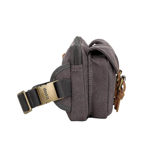 L1512 Troop London Classic Canvas Waist Bag (Black) - Troop London