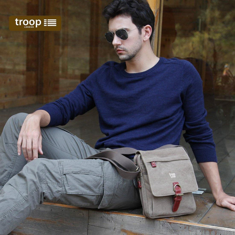 TRP0211 Troop London Classic Canvas Across Body Bag - Troop London