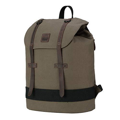 TRP0511 Troop London Heritage Waxed Canvas Daypack Backpack - Troop London