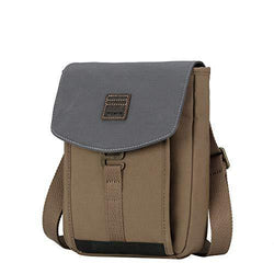 TRP0520 Troop London Heritage Light Weight Canvas Casual Crossbody Bag, Small Acrossbody Bag - Troop London